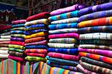 Market Stall with traditional textiles
