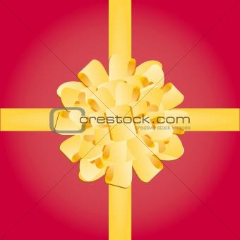 Bow gift present vector illustration