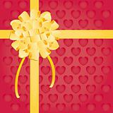 Bow gift present vector illustration