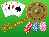 Casino theme, background