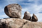 Three balanced boulders