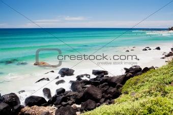 Amazing ocean at the Kingscliff beach