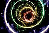 rainbow spiral sparkles