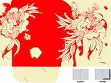 Colorful template for folder design