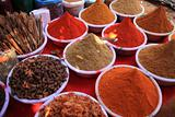 Cooking spices in Indian market