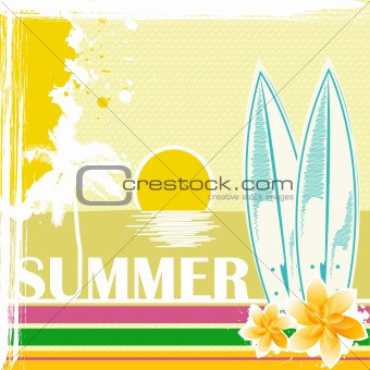 sketchy summer card