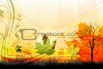 abstract autumn card