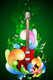 colorful music card