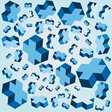 Geometric crosses Cube Background vector