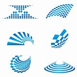 different shapes of logo
