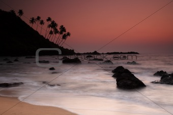 Sunset at Cola Beach, Goa