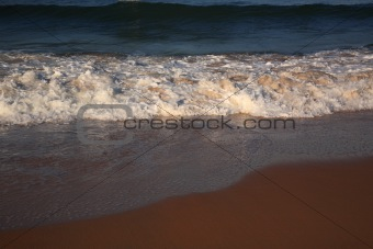 Waves breaking on Candolim Beach