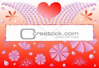 Valentine greeting postcards