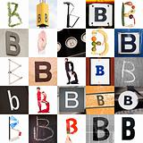 Collage of Letter B