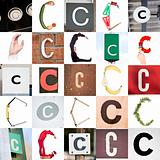 Collage of Letter C