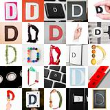 Collage of Letter D