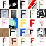 Collage of Letter F