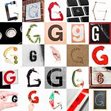 Collage of Letter G