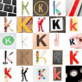 Collage of Letter K