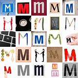 Collage of Letter M