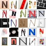 Collage of Letter N