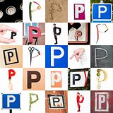 Collage of Letter P