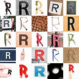 Collage of Letter R