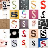 Collage of Letter S