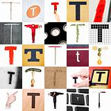 Collage of Letter T