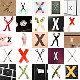 Collage of Letter X
