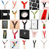 Collage of Letter Y