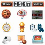 Vector basketball icon set