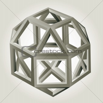 Abstract 3d geometric vector background