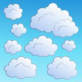 Cartoon clouds collection 2