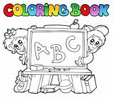 Coloring book with school images 2