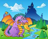 Fairy tale image with dragon 2