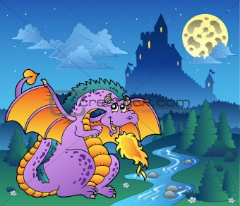 Fairy tale image with dragon 3