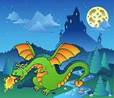 Fairy tale image with dragon 4