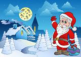 Santa Claus near small village 2