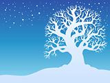 Winter tree with snow 2