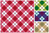 Set of vector scottish style textile background