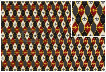 Vector abstract royal lily Fleur-de-lis background