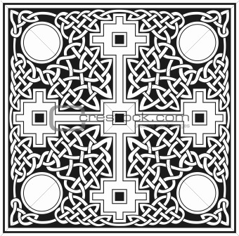 Celtic cross vector design