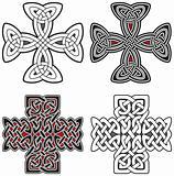 Set of celtic design elements crosses