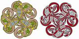 Detailed celtic design element with birds and animals