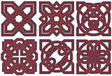 Set of celtic design elements