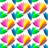 Seamless colorful floral pattern. Fancy design.