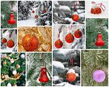 New Year's collage. Christmas Toys