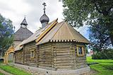 Ancient Russian loghouse church