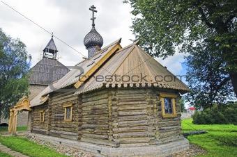 Ancient Russian loghouse church